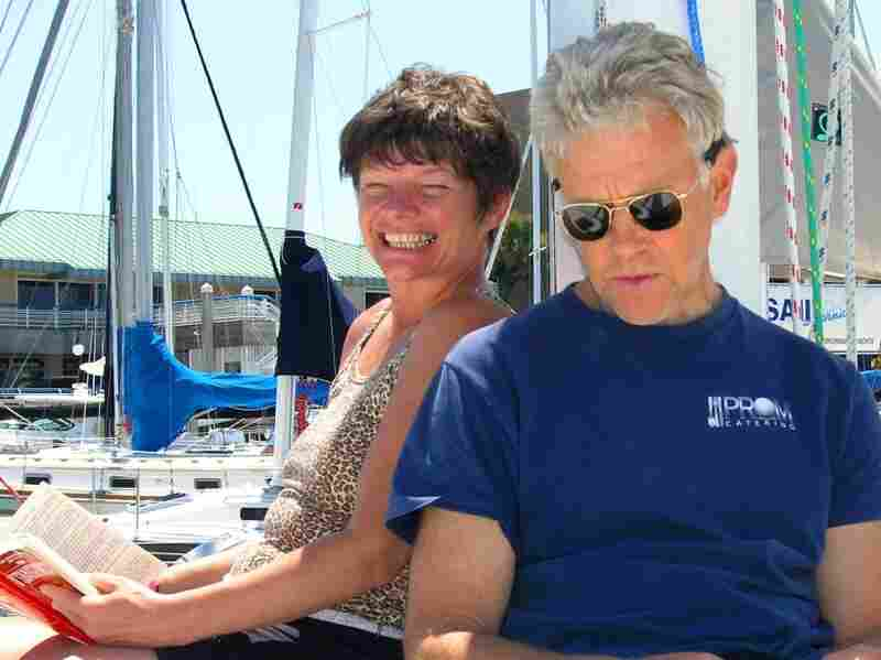 Two of the slain Americans, Phyllis Macay and Bob Riggle of Seattle, are seen on a yacht in Bodega Bay, Calif., in this photo from June 11, 2005.