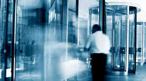 Revolving doors blur