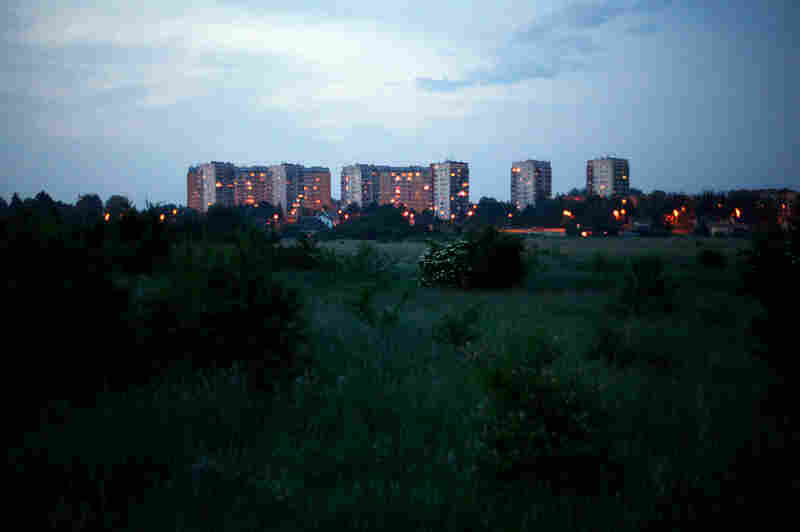 "A few high-rise apartment buildings in the center of Oswiecim sometimes referred to as ""Manhattan"" by residents."