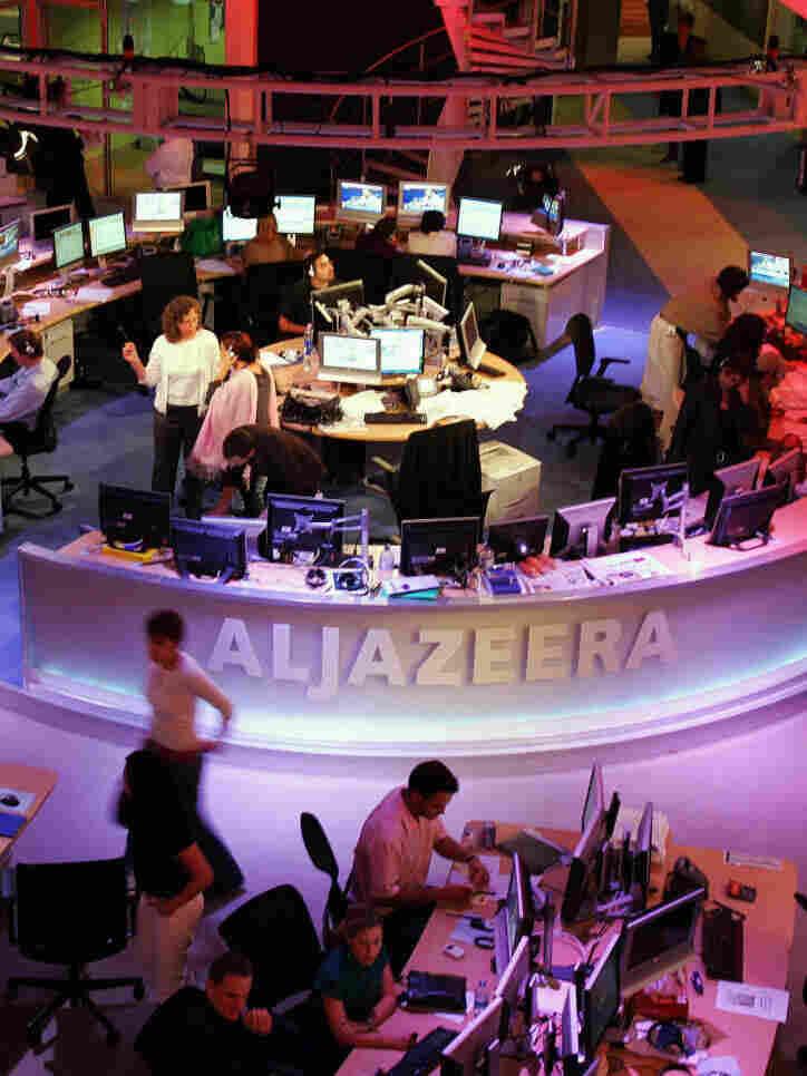 Al-Jazeera's English's newsroom in November, 2006.