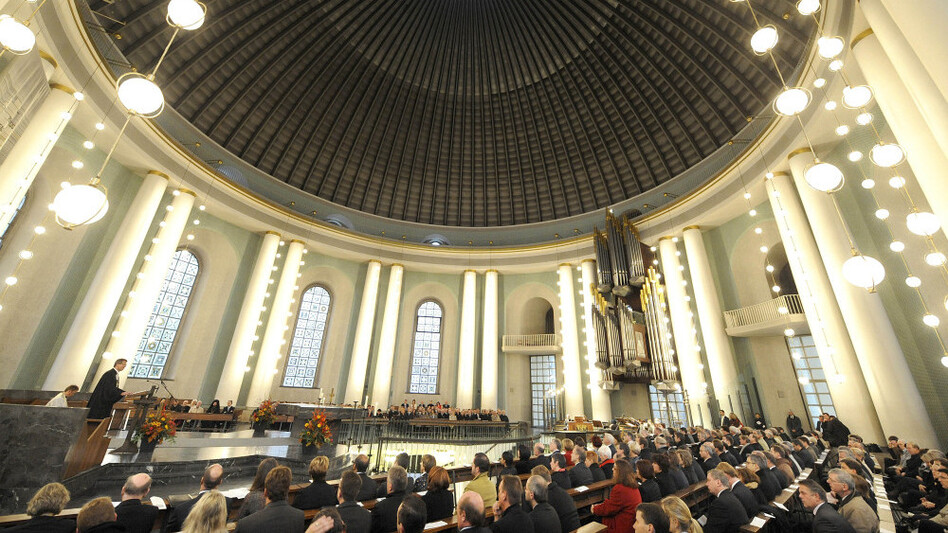 A view into the St. Hedwigs Cathedral during a church service in 2009. (AP)