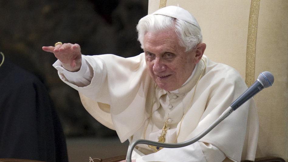 Pope  Benedict XVI, seen here during his weekly general audience at the Vatican on Feb. 16, hasn't shown any sign he's willing to  relax the rules despite the fact that Catholic priests ordained in the  Eastern Rite and some converts can be married. (AP)