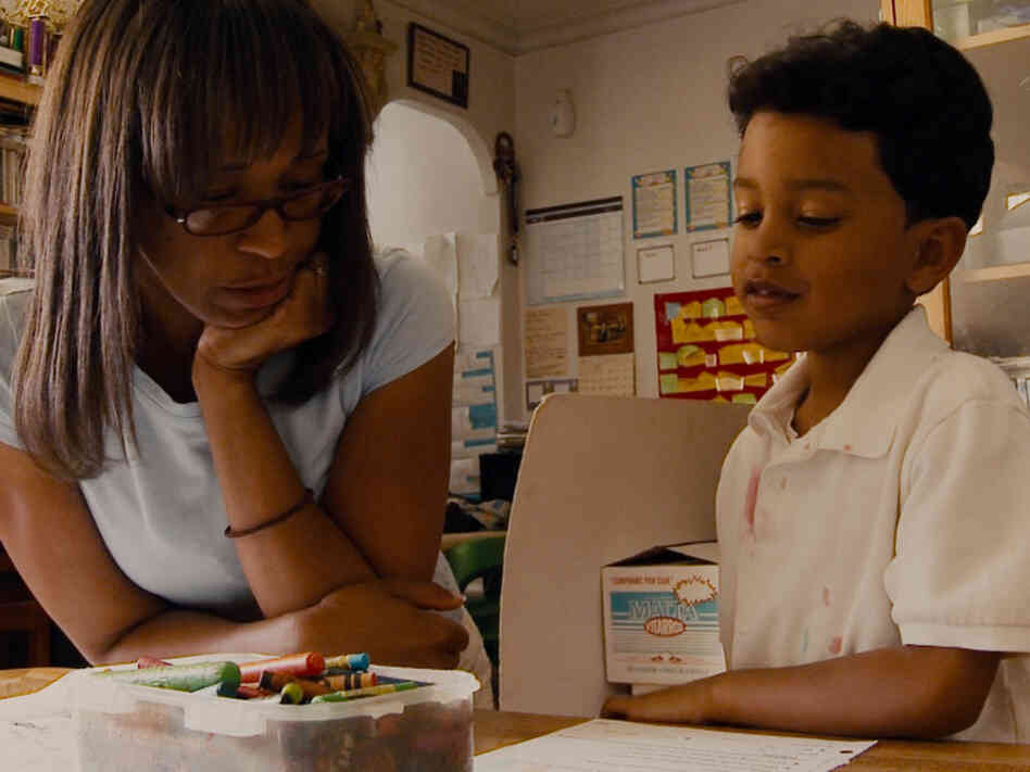 Francisco, seen here with his mother, Maria, is one of the students Davis Guggenheim follows in Waiting for Superman.