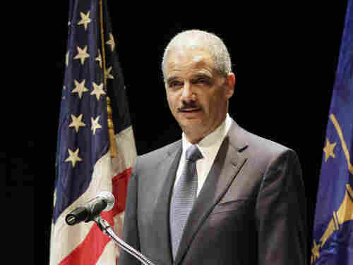 Attorney General Eric Holder, pictured earlier this month in Indianapolis, said the Justice Department has defended the law until now because the government was able to advance reasonable arguments for the law based on a less strict standard.