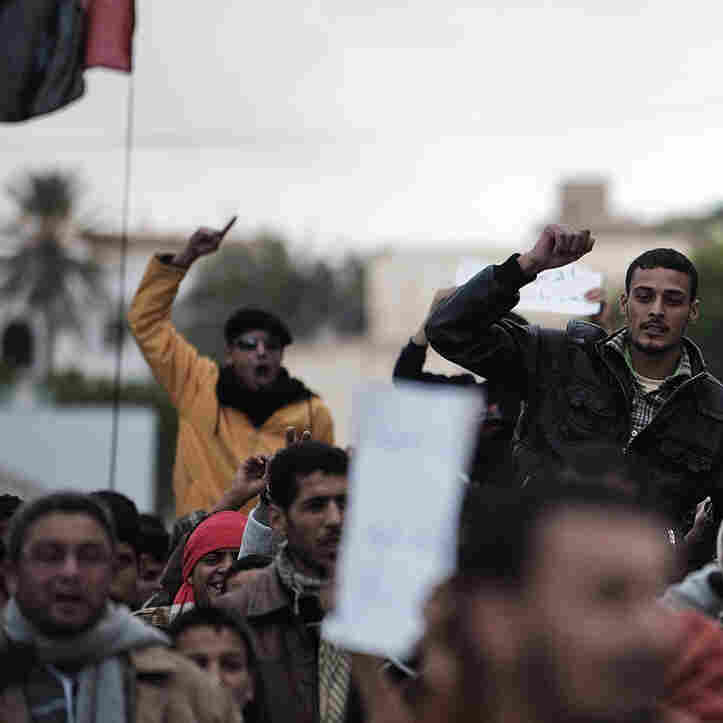 Libyans Flee As Gadhafi's Hold Over Country Weakens