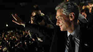 Chicago Mayor-elect Rahm Emanuel smiles at the crowd after winning the mayoral race Tuesday, Feb. 22, 2011.