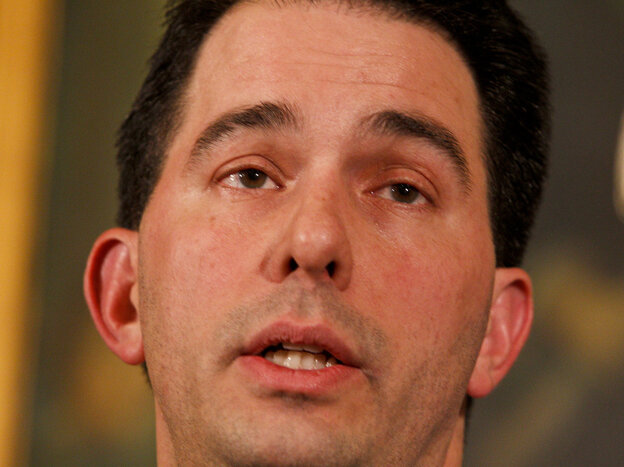 Wisconsin Gov. Scott Walker on Monday.