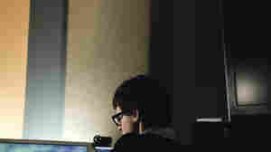 Son Lux (Ryan Lott) works in his studio.