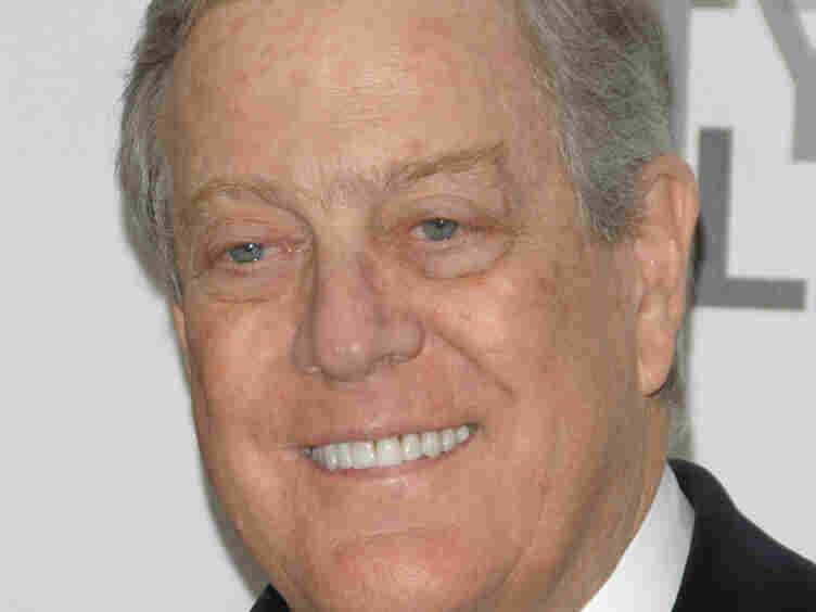 David Koch (above) and his brother, Charles, give millions of dollars to groups working to drive civil service unions out of government and ultimately out of politics.