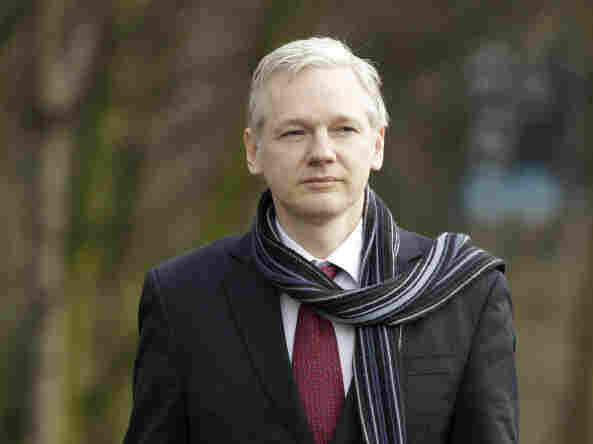 WikiLeaks founder Julian Assange arrives for his extradition hearing at Belmarsh Magistrates' Court in London on Thursday.