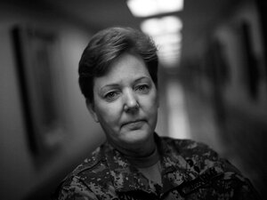 Brig. Gen. Heidi Brown, U.S. Army, at the Pentagon.