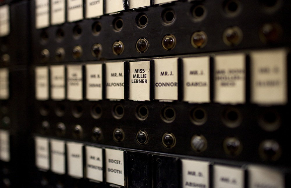 This 1930s-era switchboard was restored for Good Night and Good Luck.