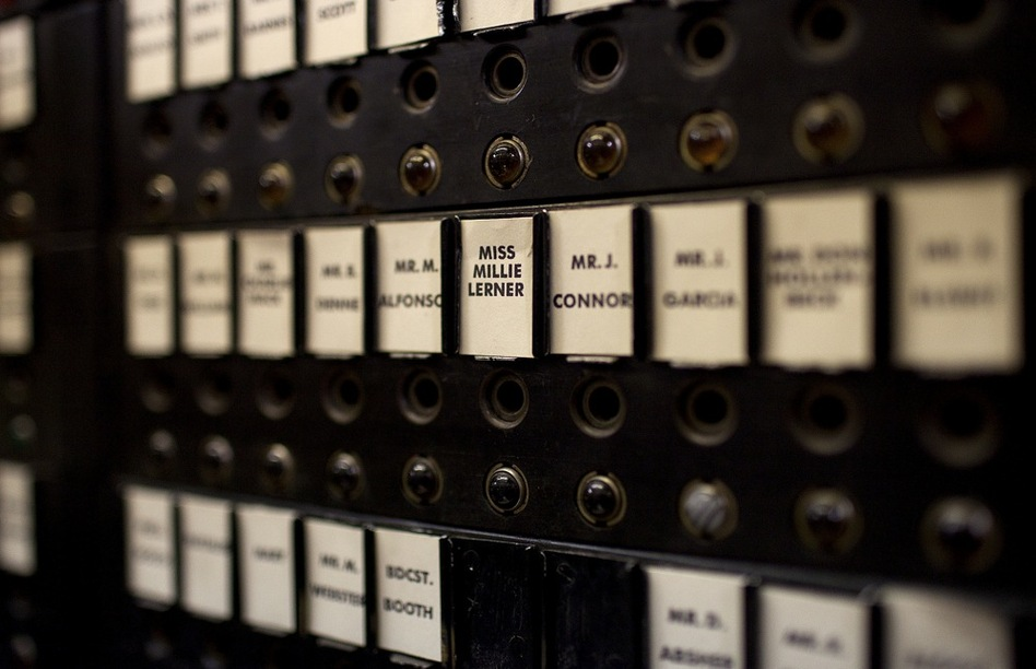 This 1930s-era switchboard was restored for Good Night and Good Luck. (Katie Falkenberg for NPR)