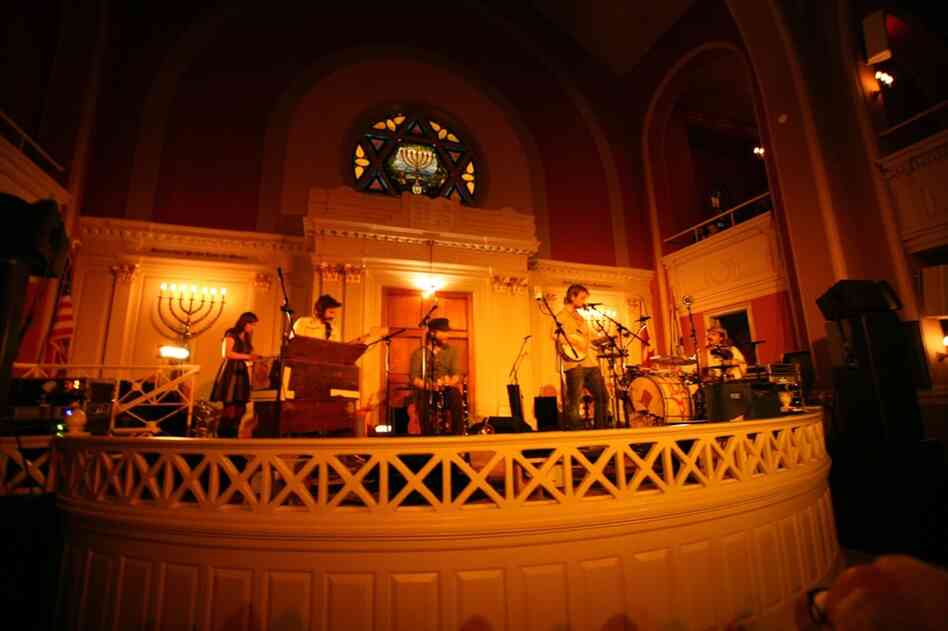 The Low Anthem, performing at the 6th and I synagogue in Washington, D.C. Feb. 24.