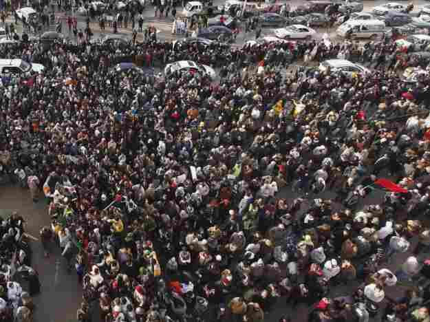 The Libyan government has cracked down on protests like this one in Benghazi.