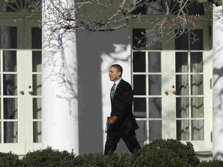 President Obama outside the White House W