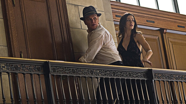 You Are My Destiny: As David Norris, Matt Damon (left) plays a flailing politician who fits into a plan created by the mysterious, all-powerful Adjustment Bureau. But, that means abandoning Elise (Emily Blunt), the woman he loves.