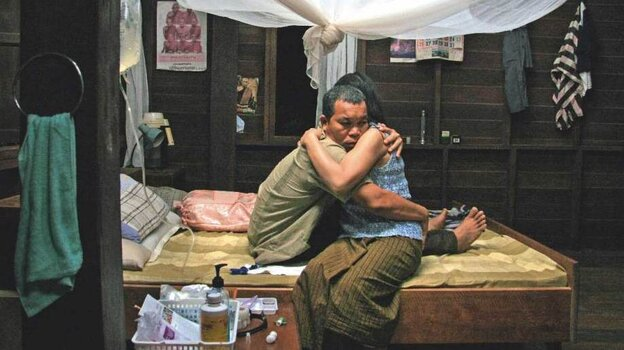 Till Death Do Us Part? On his deathbed, Boonmee (Thanapat Saisaymar) is visited by his long-dead wife Huay (Natthakarn Aphaiwonk), who aids him in his journey through past lives and the end of his latest.