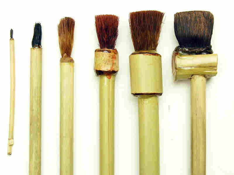 Brushes made out of invasive species