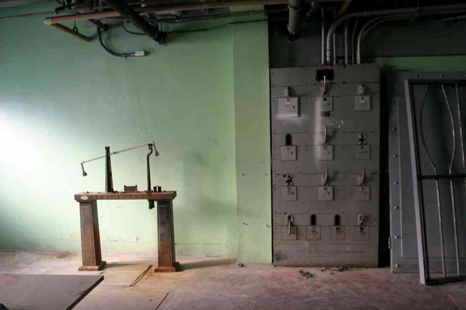 Dresser takes loads of pictures inside the hospital to show the director and production designer. Shuttered in the early '90s, the facility has been used exclusively for filming since.