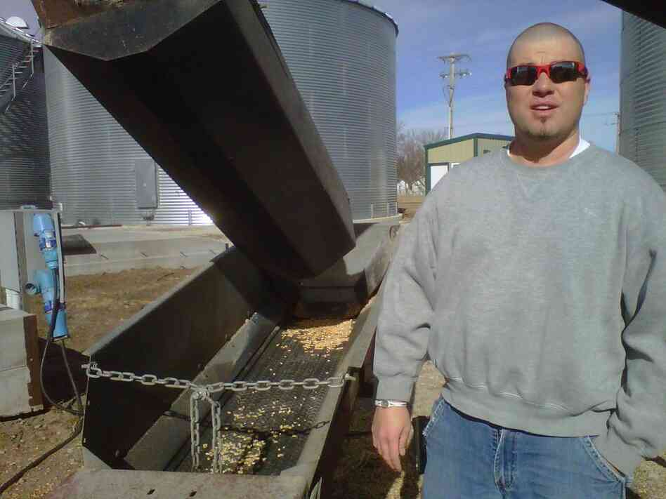 Brandon Hunnicutt, a Nebraska corn farmer, uses technology — and even Twitter — to run his farm.