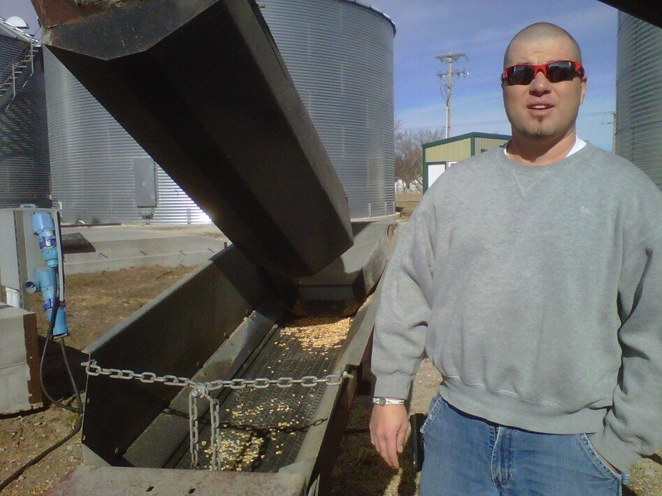 Brandon Hunnicutt, a Nebraska corn farmer, uses technology — and even Twitter — to run his farm. (Art Silverman/NPR)
