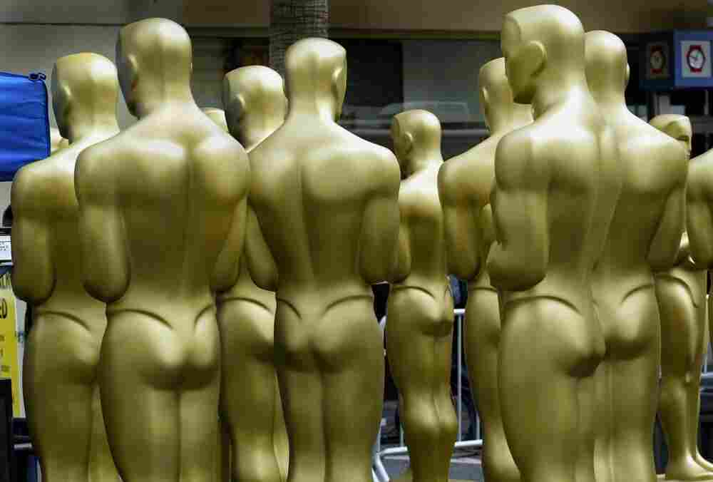 Oscar statues, behind the scenes.