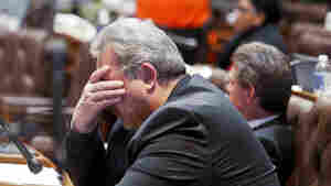 Wisconsin Rep. Mark Honadel, R-South Milwaukee, rests during Assembly debate on Feb. 23, 2011.