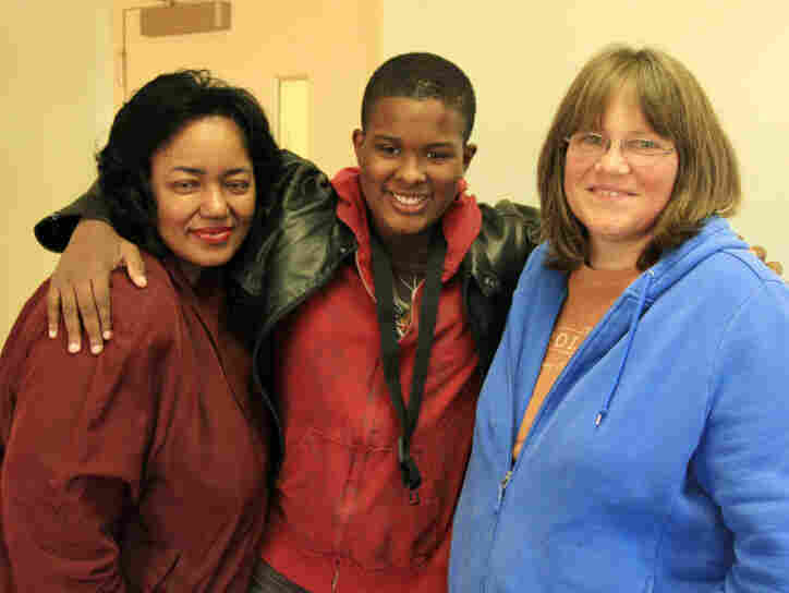 Matthew Belser is a star student of Scrollworks. As his skills grew, his mother, Leslie Belser (left), and Goforth became good friends.