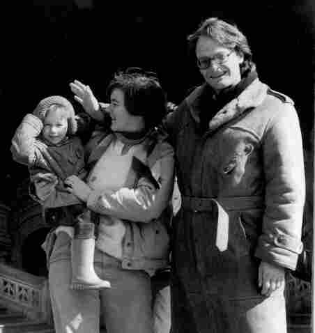 "Patrick and Jan Cockburn pictured with their son Henry. Ever since he was a child, Henry was ""intensely alive and interested in everything and everybody around him,"" says his father."
