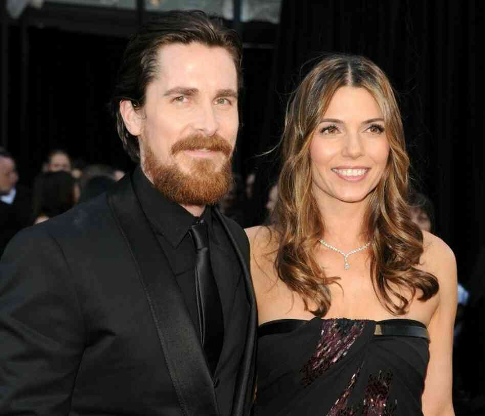 Christian Bale and wife Sibi Bale.