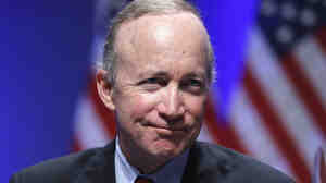 Indiana Gov Mitch Daniels speaks in Washington on Feb. 11.