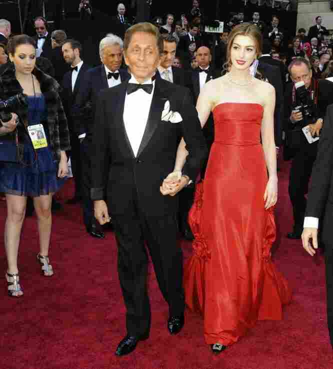 Valentino and Anne Hathaway.