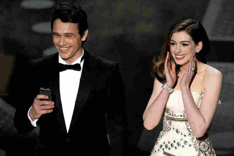 """""""You look very appealing to a younger demographic,"""" Hathaway told Franco — a wink the Academy's choice of hosts."""