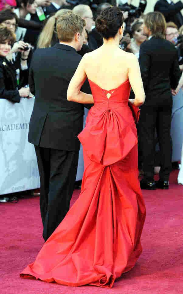 Sandra Bullock wore red.