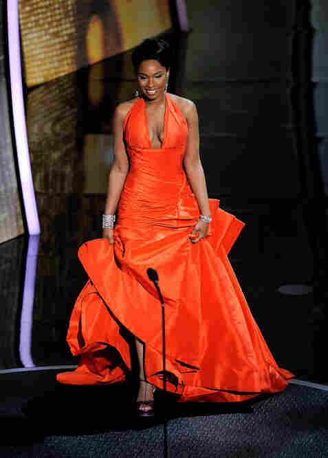 Jennifer Hudson, an Oscar winner for the 2006 film Dreamgirls, presented the award for Best Original Song — and won rave reviews for her wardrobe.