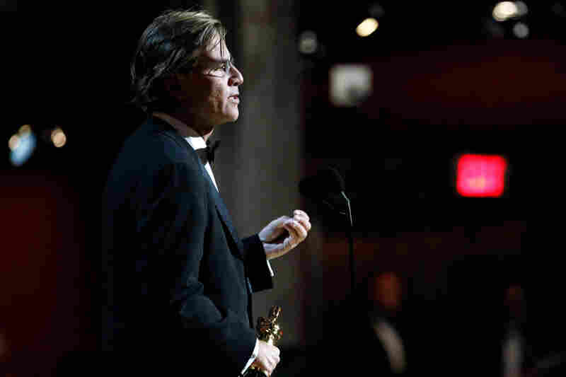 Aaron Sorkin won the Best Adapted Screenplay award for The Social Network.