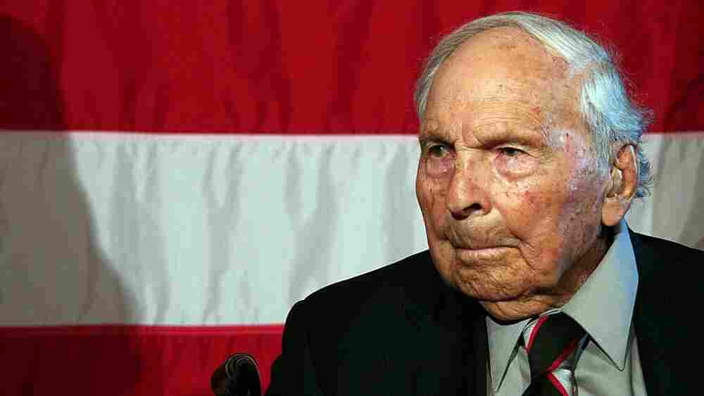 Frank Buckles during a 2008 ceremony honoring him on Capitol Hill in Washington, D.C.