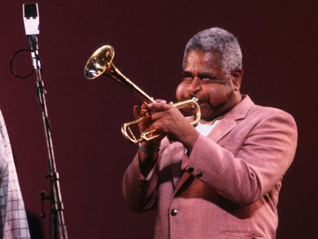 Dizzy Gillespie performs in New York, c. 1988.