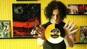 Jack White in his store, Third Man Records.