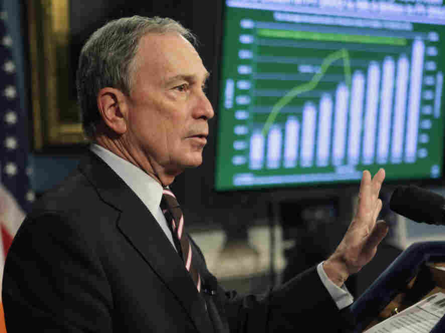 New York City Mayor Michael Bloomberg delivers the fiscal year 2012 budget, Thursday, Feb. 17, 2011.