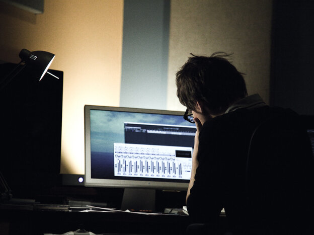 Son Lux (Ryan Lott) at work in the studio.  This month we've been tracking his progress as he writes and records an entire album from start to finish.