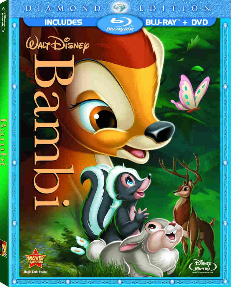The cover of the new DVD/Blu-ray edition of Bambi.