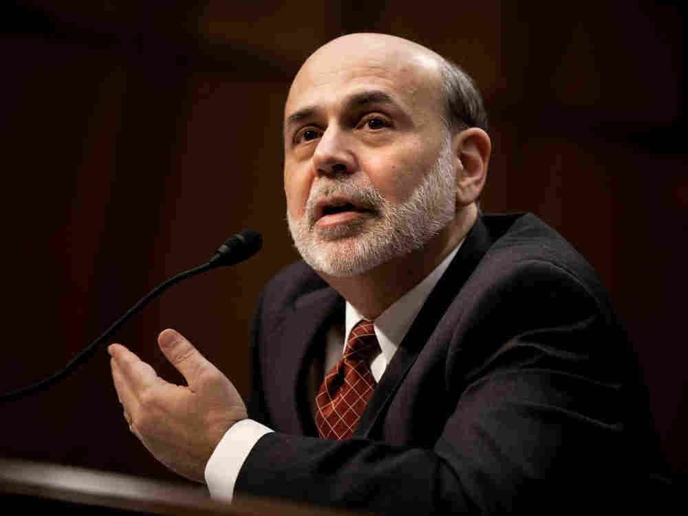 Federal Reserve Chairman Ben Bernanke speaks during a hearing of the Senate Banking, Housing and Urban Affairs Committee on Tuesday.
