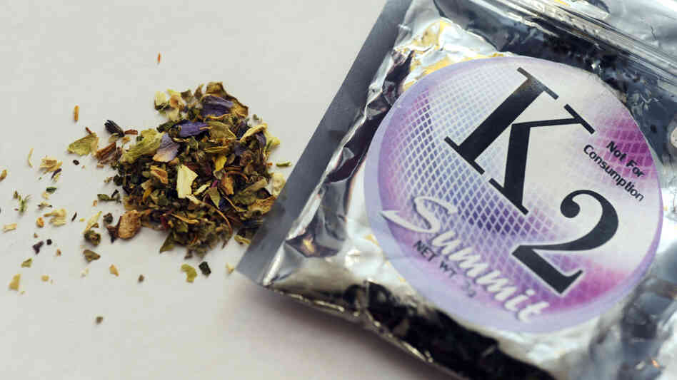 "Despite the ""not for consumption warning,"" the DEA has banned the sale of products like K2, which contain herbs and spices sprayed with a synthetic compound chemically similar to THC, the psychoactive"