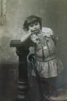 Lukas' novel was inspired by this photograph of a girl he found in a dusty shop in Istanbul.