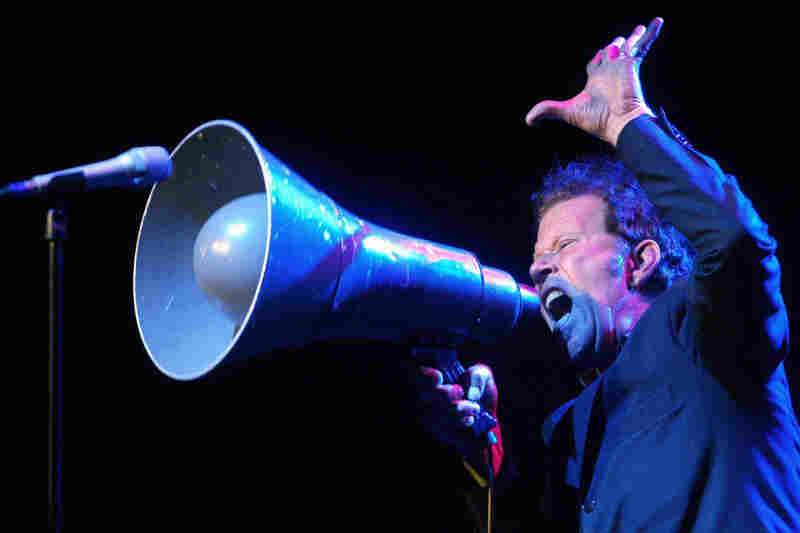 "As Waits says, ""Nothing beats the drama of a bullhorn."" He often incorporates loud and enthralling elements into his live shows."