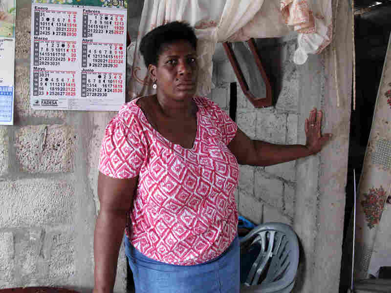 Ayobi  lives in a cinder block house on the outskirts of Guayaquil. She  says it's not an easy place to raise a  child.