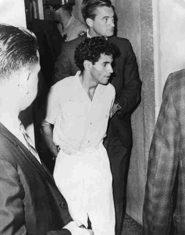 Sirhan Sirhan in custody in 1968