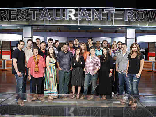 The contestants on America's Next Great Restaurant.
